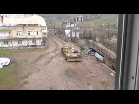 Şırnak Merkezde tank terörisleri böyle susturdu