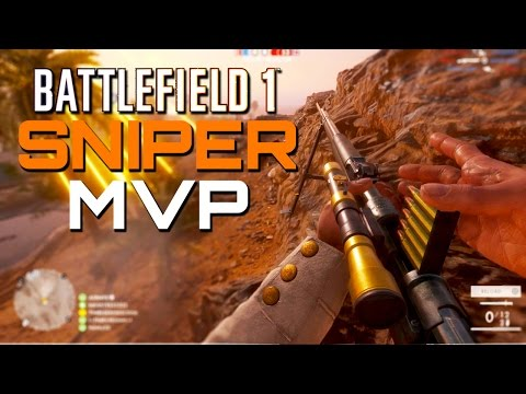 Battlefield 1: Sniper MVP - PS4 Pro Multiplayer Gameplay