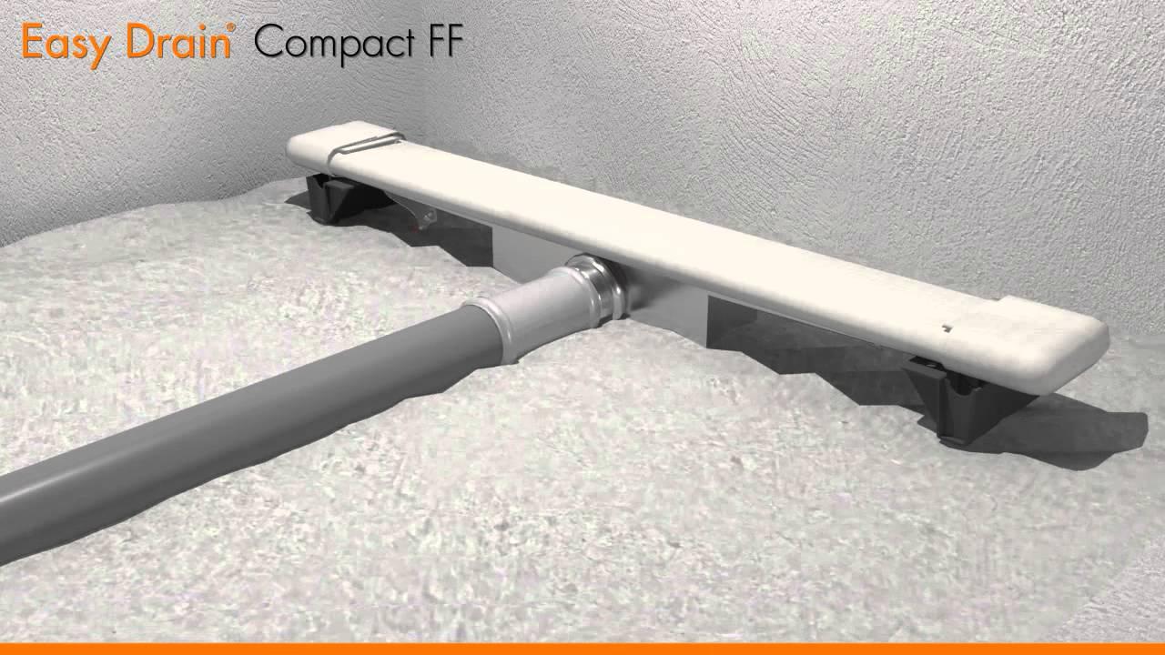 Linear Shower Drain Installation Easy Drain Compact FF English
