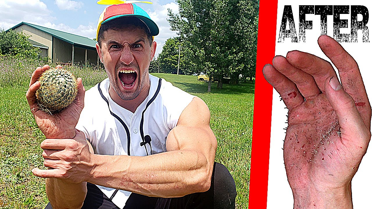 Catching a CACTUS so Nobody else has to *HANDS RUINED FOR LIFE* | Bodybuilder VS Cactus Experiment