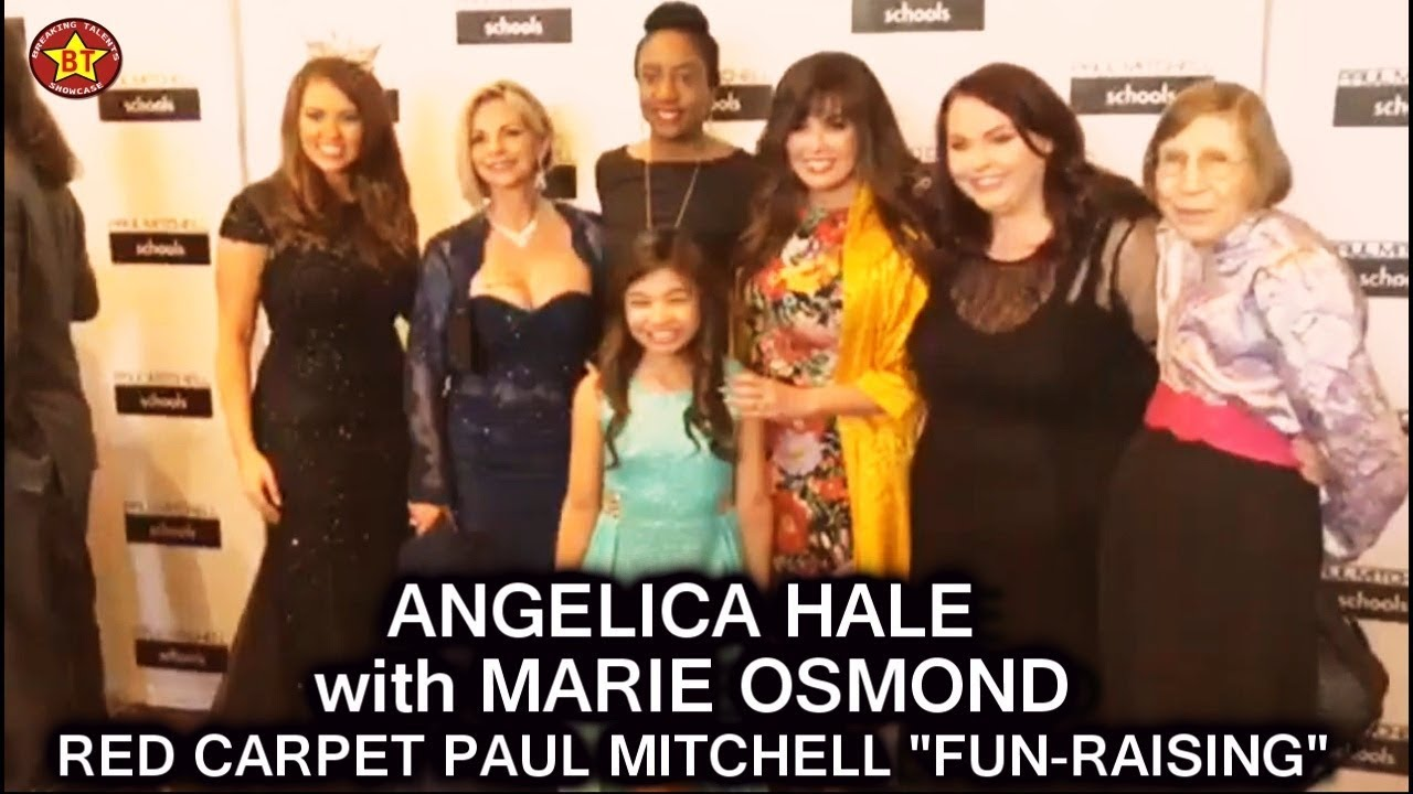 "Angelica Hale with Marie Osmond at Red Carpet Picture Taking with Fans -Paul Mitchell ""Fun Raising"""