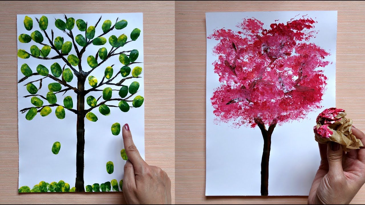 How To Paint A Tree 5 Awesome Painting Tips And Tricks Youtube