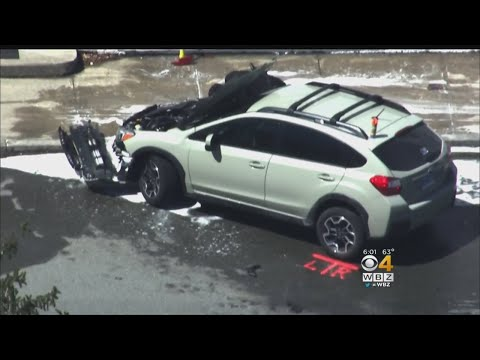 Police Chase Ends With Car Crash In Acton