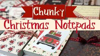 Craft Fair Idea #21:✶Chunky Christmas Notepads✶