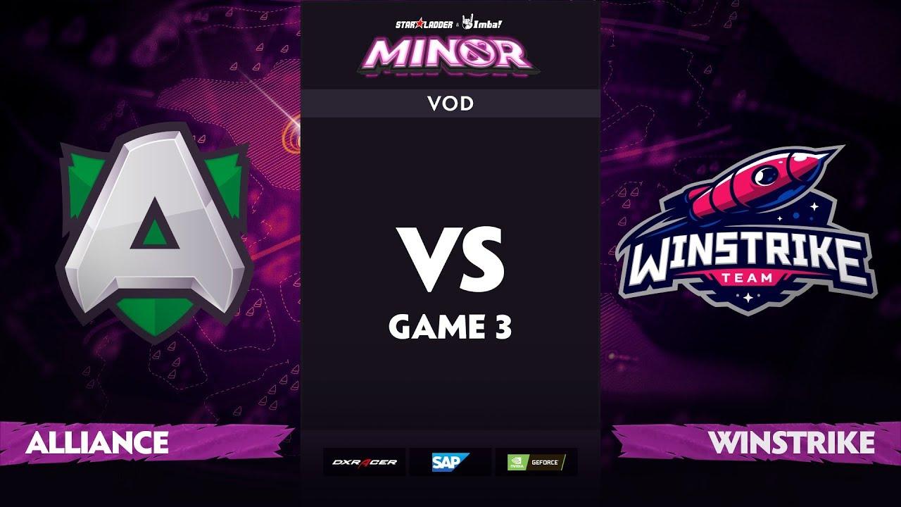 [EN] Alliance vs Winstrike, Game 3, Part 1, StarLadder ImbaTV Dota 2 Minor S2 Group Stage