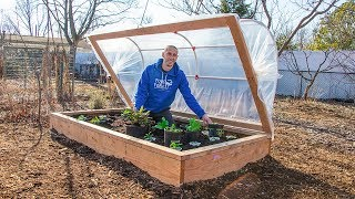 How to Build a HINGED HOOPHOUSE for a Raised Bed Garden