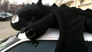 15 foot Toothless Plush Night Fury How to Train Your Dragon OOAK