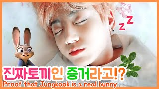 [ENG SUB] Proof that Jungkook is a real bunny  🍃🐰BTS Jungkook rabbit