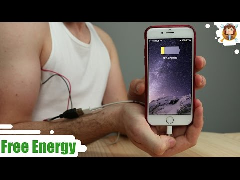 Charge your Phone with your Body  -  ( Free Energy )