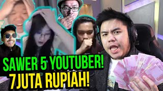 DONATE 7JUTA KE 5 STREAMER!! TANPA RAGU! - PROS NYAWER EPISODE 6