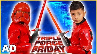 Star Wars Triple Force Friday Toys and Costumes for Kids