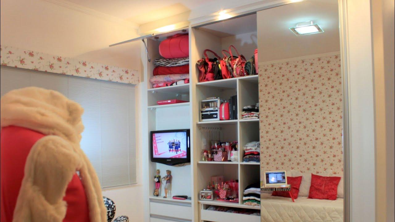 Tour Pelo Quarto Banheiro E Closet ~ Tour pelo meu quarto @tacielealcolea  YouTube
