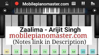 Zaalima piano tutorial || Notes || arijit singh ||'raees,||  -Perfect piano tutorial