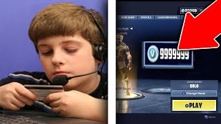 he bought v bucks using his mom's credit card... (Fortnite Battle Royale)