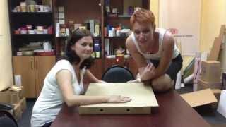 Девчонки фабрики упаковки (коробки для пиццы)(Изготовление коробки для пиццы из гофрокартона. Упаковка для пиццы. В такие гофрокоробки, помимо пиццы..., 2013-06-14T09:43:29.000Z)