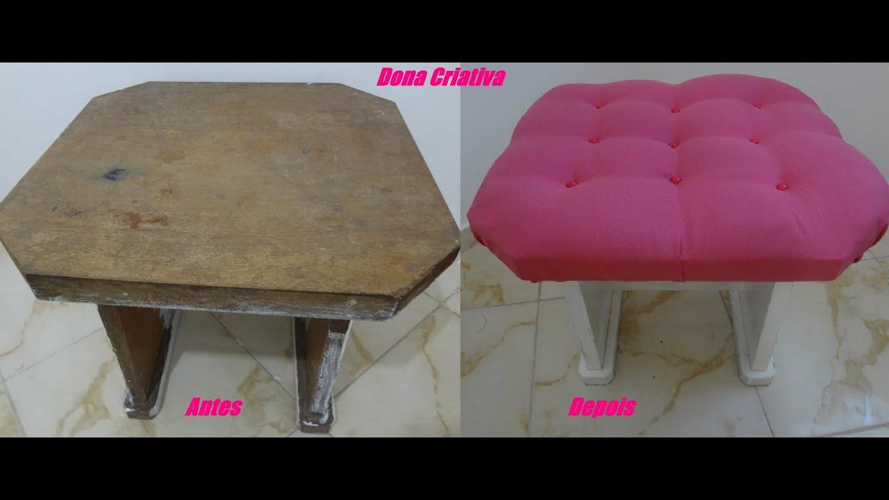 Decore você mesma banqueta estofada Fábia Oliveira   #B61566 3000x1268