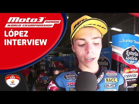 Interview (ENG) Alonso López winner Race 1 Moto3™ Junior World Championship Barcelona