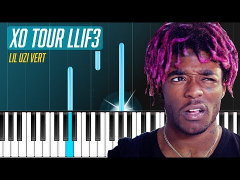 "Lil Uzi Vert - ""XO TOUR Llif3"" Piano Tutorial - Chords - How To Play - Cover"
