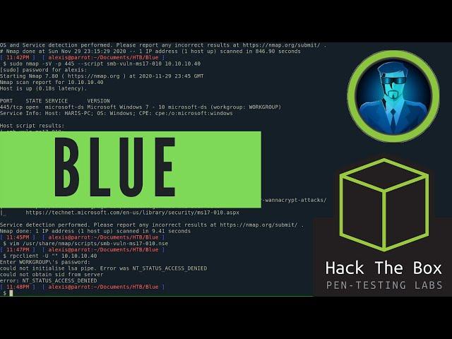 HackTheBox Blue Walkthrough - Learn Windows Enumeration