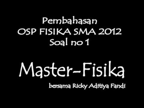 Master-Fisika: Pembahasan OSN Fisika SMA 2012 tingkat Provinsi Soal no 1