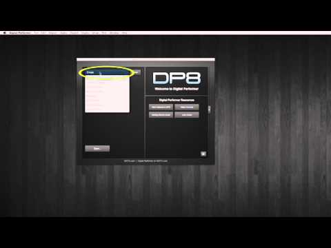 Créer son premier Projet dans Digital Performer 8 et 9 (français)