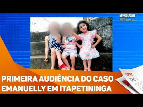Primeira audiência do caso Emanuelly em Itapetininga - TV SOROCABA/SBT
