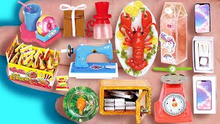 36 EASY REALISTIC DIY MINIATURE BARBIE IDEAS ~ mini candy mini burger, lobster, aquarium and more!