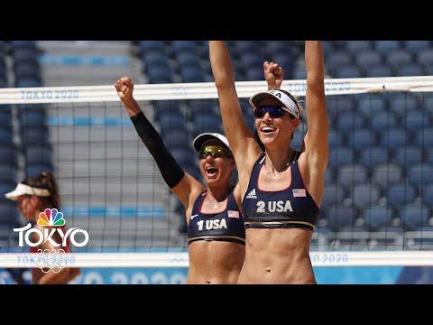 April Ross, Alix Klineman coast past Switzerland, to gold medal match  Tokyo Olympics  NBC Sports