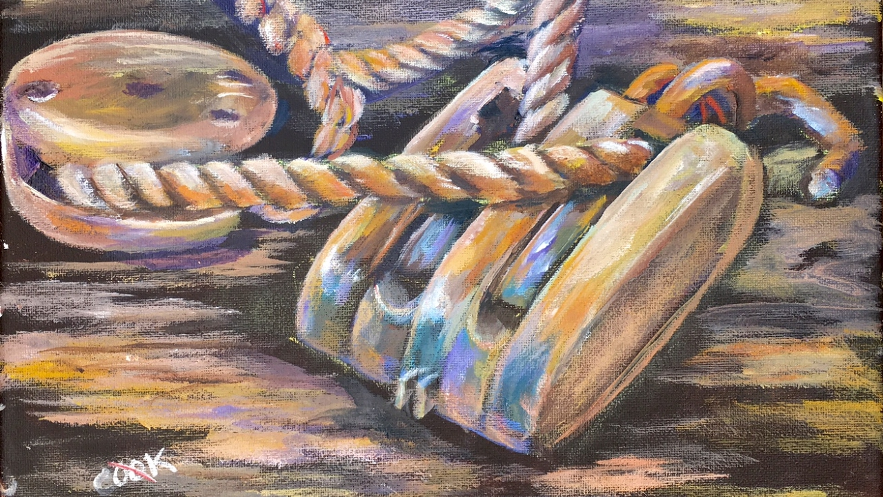 How to Paint a Block and Tackle and Rope with Ginger Cook
