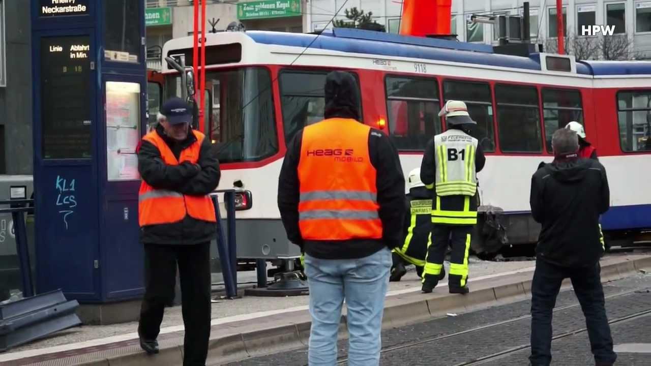 Darmstadt Straßenbahn Unfall