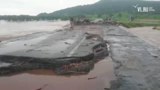 VL.ru - Размытый мост через реку Нежинка