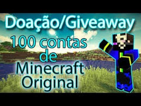 Doando Contas De Minecraft 2015
