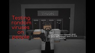 Roblox Ro-Bio: Testing Viruses on Random People