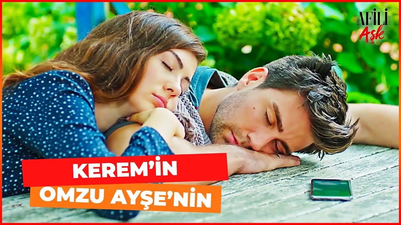 Afili Aşk 13. Bölüm Ayşe ve Kerem Bahçede Beraber Uyuyor
