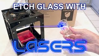 How to Etch Glass with a 1000mW Colemeter Laser