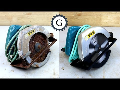 Electric Circular Saw Restoration |  1984 Makita Circular Saw