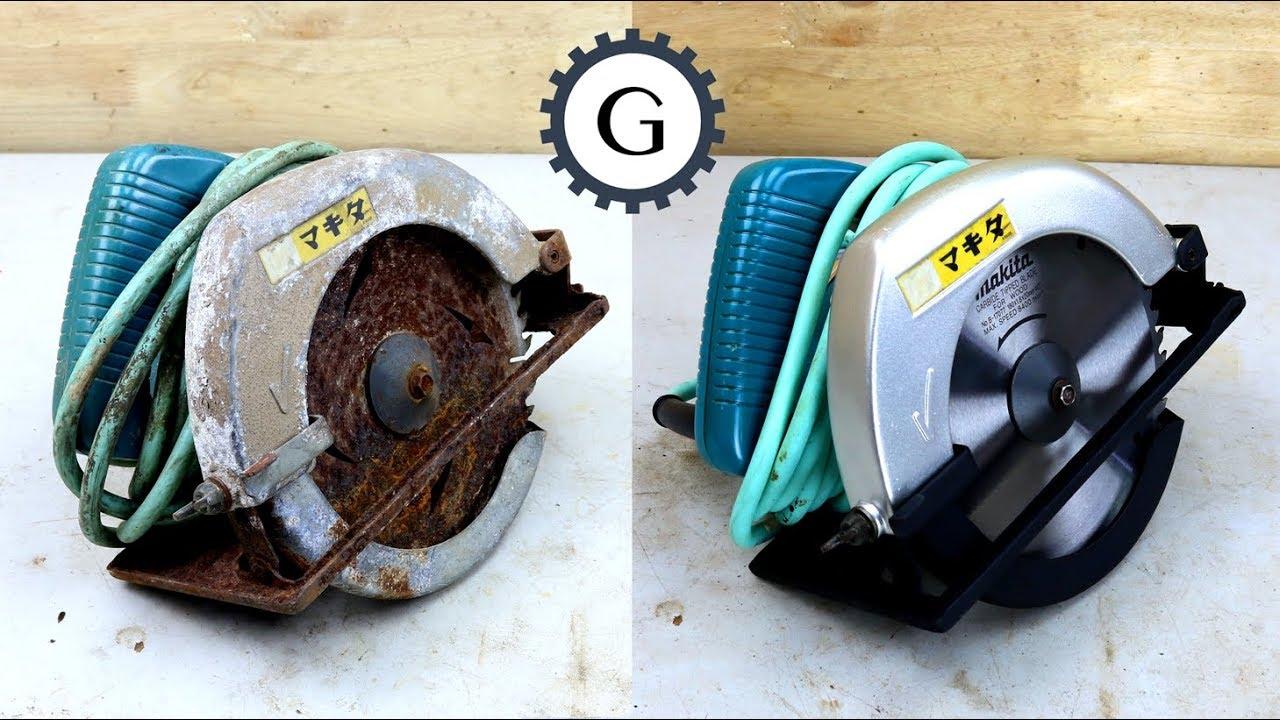 Electric Circular Saw Restoration   1984 Makita Circular Saw