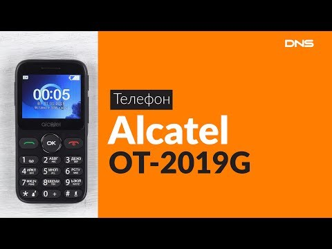 Распаковка телефона Alcatel OT-2019G / Unboxing Alcatel OT-2019G