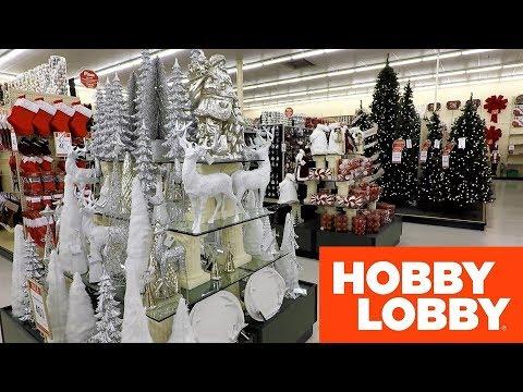 HOBBY LOBBY CHRISTMAS SHOPPING STORE WALK THROUGH 2018 - Christmas Trees Decorations Home Decor