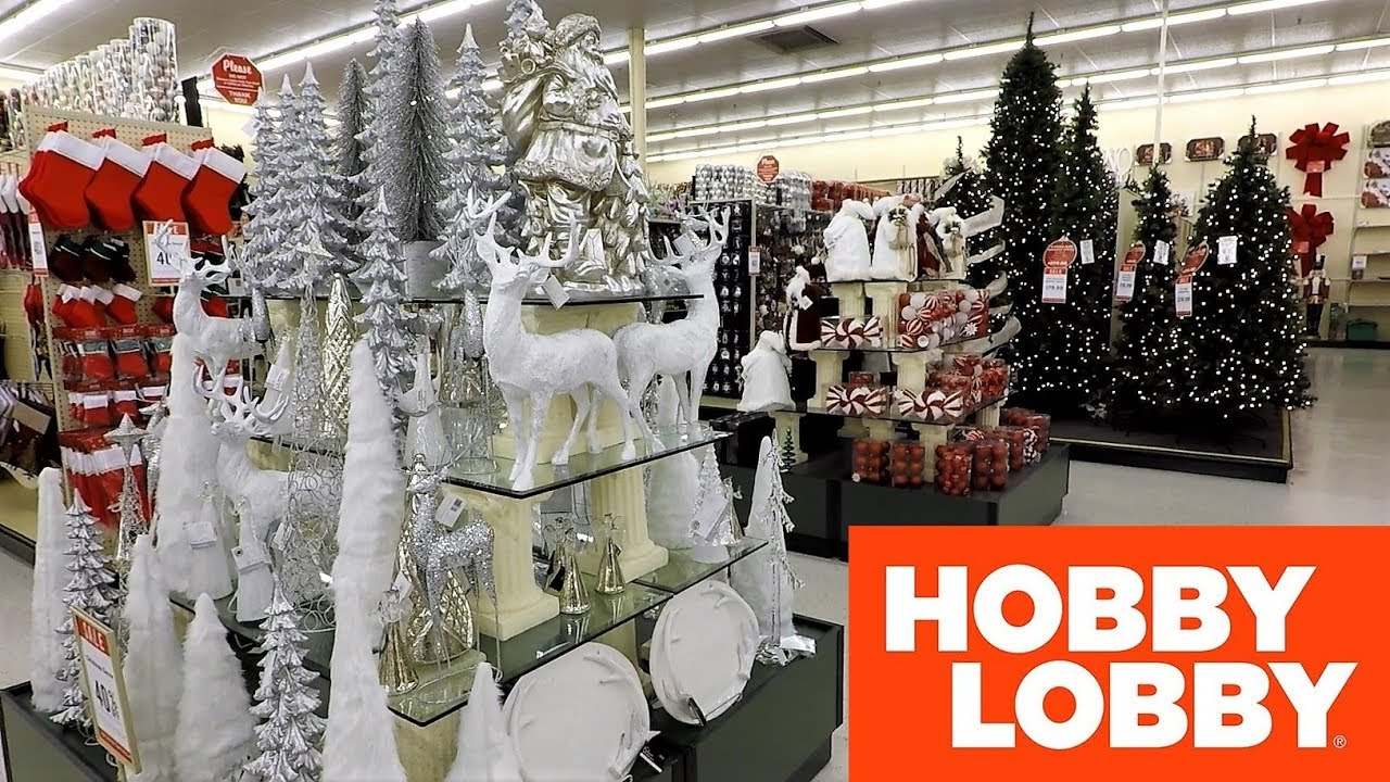 Hobby Lobby Christmas Wreaths.Hobby Lobby Christmas Shopping Store Walk Through 2018 Christmas Trees Decorations Home Decor