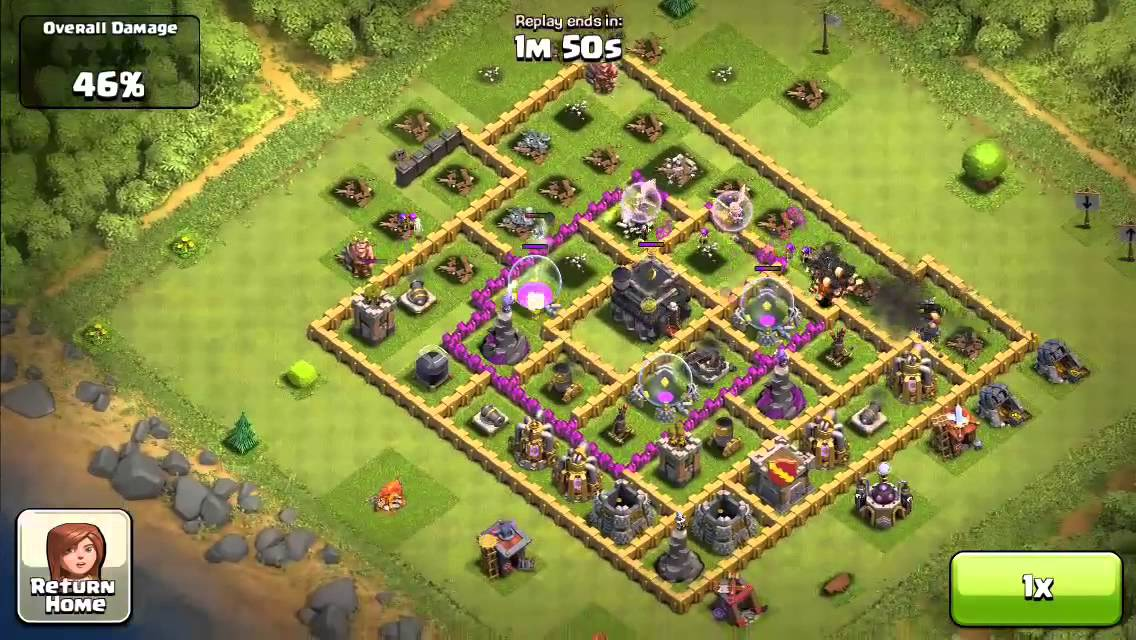 Clash of Clans: DEVILS REVENGE 100% Attacked 2000+ Level 6 ...