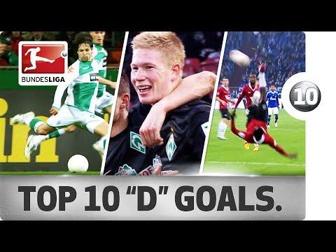 """Diego, De Bruyne, Dzeko & More - Top 10 Goals – Players with """"D"""""""