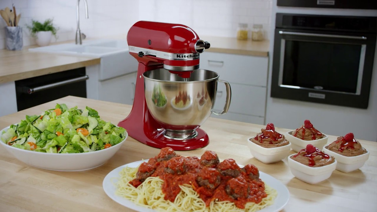 KitchenAid Mixer, One Meal: A three course meal made with the Artisan Stand  Mixer