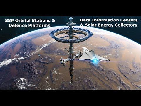 SSP Orbital Stations/Defence Platforms, Data Information Centers/Bases & Solar Energy Collectors