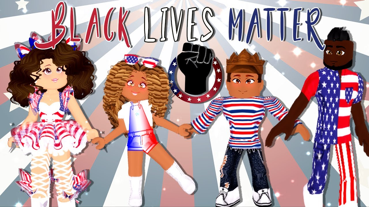 BLACK LIVES MATTER 4th of July LOOKBOOK in Roblox Royale High #BLM