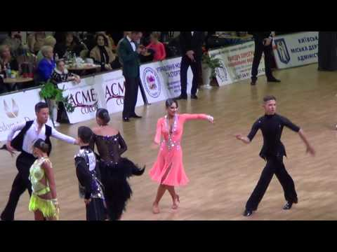 2017 Ukrainian Open Junior 2 Latin Semifinal H2 Samba