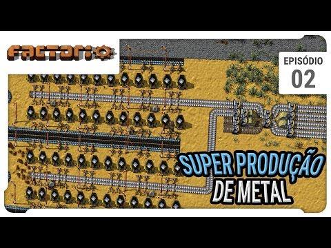 Factorio - Super Produção de Ferro - O começo do main buffer - ep 02- pt-br