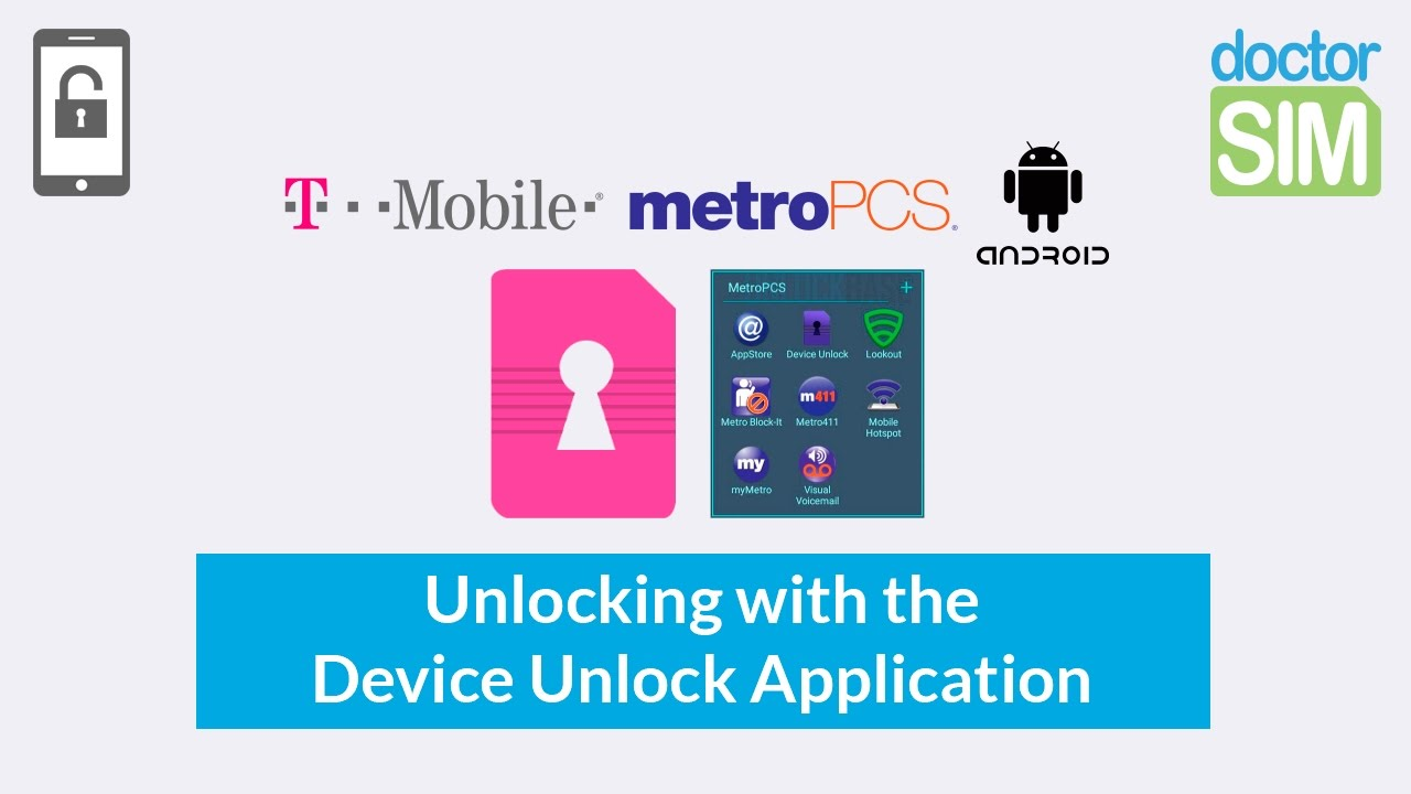 How to unlock phone from MetroPCS with Device Unlock App U S A