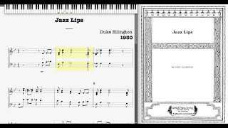 Jazz Lips by Duke Ellington (1930, Jazz piano)