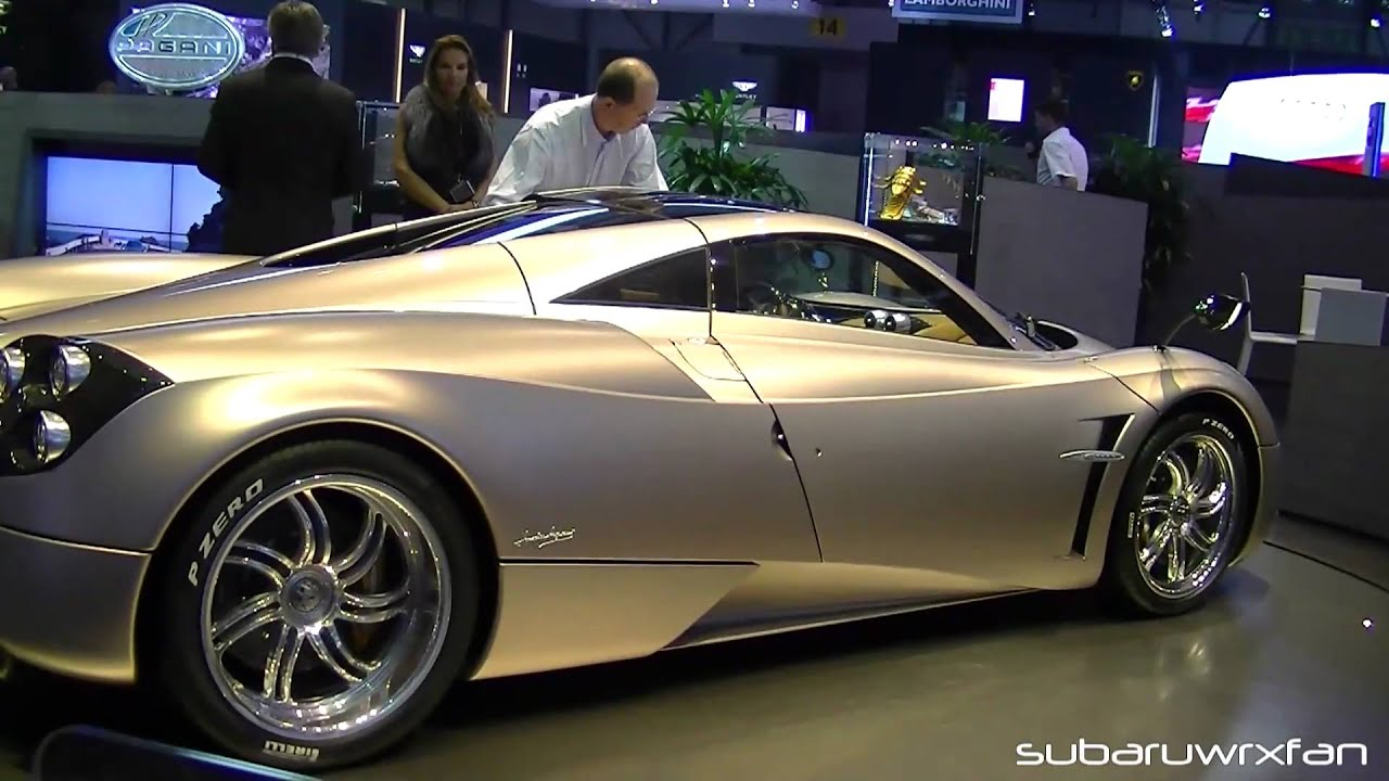 Silver Pagani Huayra -Door Action, Interior and Details! - YouTube